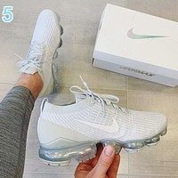 Nike Air VaporMax Flyknit 3.0 Fashion Women Men Breathable Sports Running Shoes Sneakers 5 White