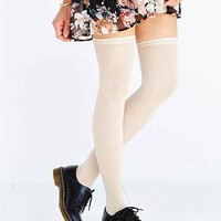 Open-Stitch Thigh-High Tight-