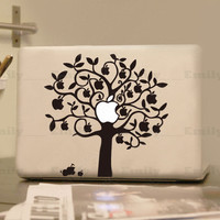 Apple tree- Decal laptop Stickers macbook decal macbook pro decal macbook air decal