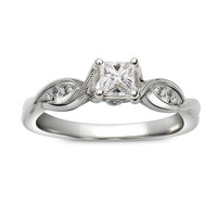 Twisted Milgrain Princess Ready For Love Diamond Engagement Ring Steven Singer Jewelers