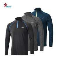 ARSUXEO Men's Running T Shirts Long Sleeves Quick Dry Training Jersey Clothing Workout Sports Tshirt For Men sportshirts mannen