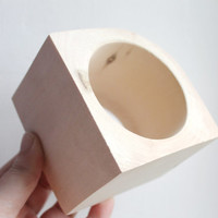 70 mm BIG Wooden bangle unfinished corner - natural eco friendly IL70
