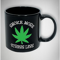 Smoke More Stress Less Mug 20 oz. - Spencer's