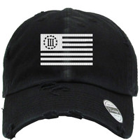 3 percent flag Distressed Baseball