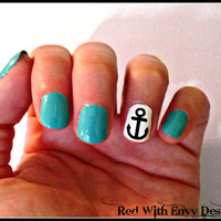 Anchor Vinyl Nail Decals Set of 50 by RedWithEnvyDesigns on Etsy