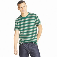 MEN STRIPED CREWNECK SHORT-SLEEVE T-SHIRT