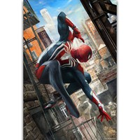 S2382 Spiderman Jumping New Marvel 2018 Movie Wall Art Painting Print On Silk Canvas Poster Home Decoration