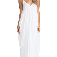 Indah Nala Lined Simple Flow Maxi in White