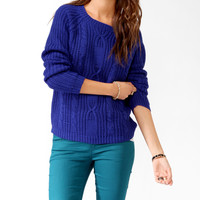 Cable Knit Front Sweater