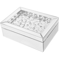 """Sparkle 10"""" Contemporary Crystal Jewelry Box"""