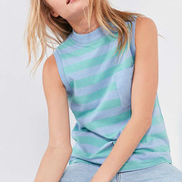 BDG Striped Mock-Neck Muscle Tank Top | Urban Outfitters
