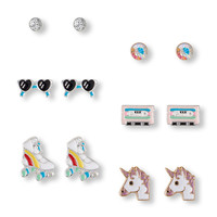 Girls Unicorn Earrings 6-Pack | The Children's Place