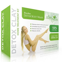 Detox Body Wrap for Weight Loss - Brazilian Silky n' Slim Volcanic Clay Organic Body Wrap Home Spa Treatment. Reduce Cellulite, Psoriases & Stretch Marks (8 Applications) will Heal You from the Inside Out.