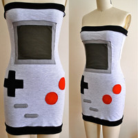 Nintendo Dress xs s m by HereandThereVintage on Etsy