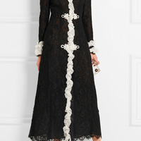 Alessandra Rich - Madame ruffled Chantilly lace gown