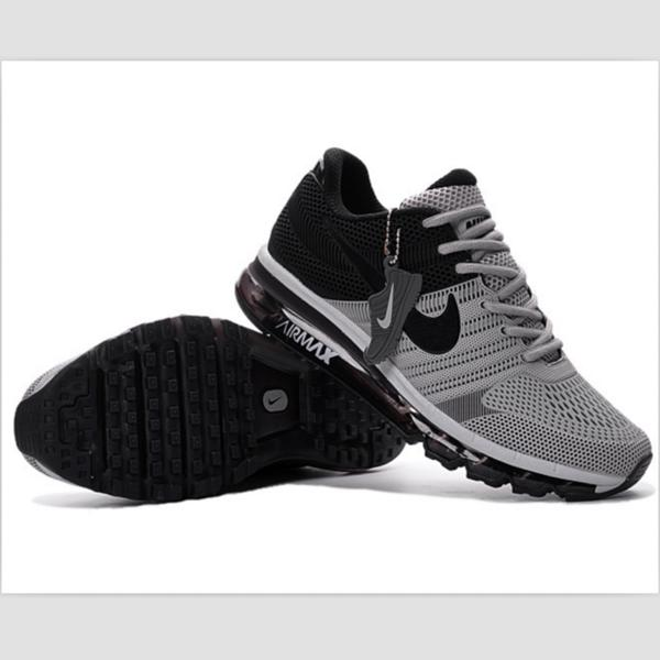 Image of NIKE trend of plastic bottom casual shoes breathable running shoes Gray and black