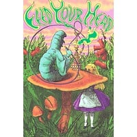 Alice in Wonderland Feed Your Head Art Poster 24x36