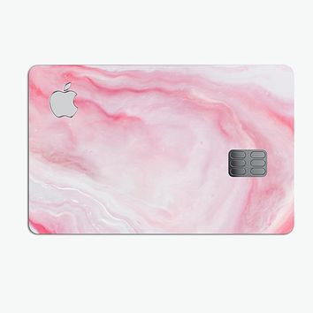 Marbleized Pink Paradise V4 - Premium Protective Decal Skin-Kit for the Apple Credit Card