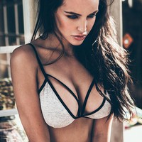 Strap Hollow Cotton Underwear Bralette Brassiere Bra