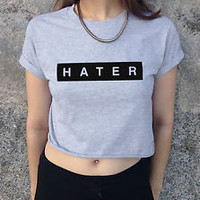 *HATER Crop Top Fashion Retro Swag Homies Tumblr Coco Dope Hype cropped Haters*