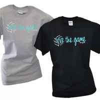 LOVE THE GAME Short Sleeve Volleyball T-Shirt