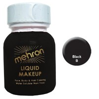 Mehron Liquid Face Paint Makeup - Black (1 oz)