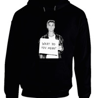 Justin Beiber What Do You Mean Poster Hoodie