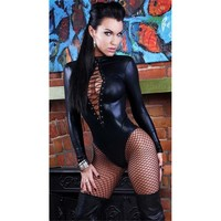 Sexy Hot Deal On Sale Cute Leather One-piece Exotic Lingerie [6596640899]