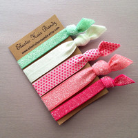 The Maggie Hair Tie Ponytail Holder Collection by Elastic Hair Bandz on Etsy