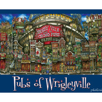 pubs of Wrigleyville, Chicago poster • pubsOf.yourTown