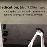 Dedication Definition Wall Decal, Classroom or Gym Wall Decal