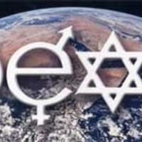 Coexist Over Planet Earth Magnetic Bumper Sticker