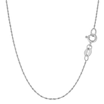 10K White Gold Singapore Chain - Width 0.8mm