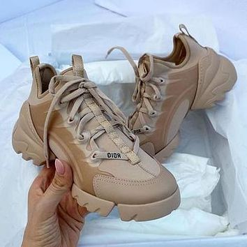 Dior CD Ladies New Lace Casual Shoes Increased Thick-soled All-match Casual Casual Shoes