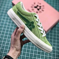 Golf Le Fleur X Converse Green Flower Fashion Shoes - Best Online Sale