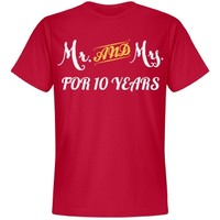 Mr & Mrs for 10 years: Creations Clothing Art
