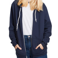 LE3NO PREMIUM Womens Lightweight Vintage Zip Up Sweatshirt Hoodie