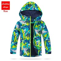 2017 Fashion Children's Winter Jackets For Boys Outerwear Polar Fleece Kids Sporty Clothes Waterproof Windproof For 4-13y Spring
