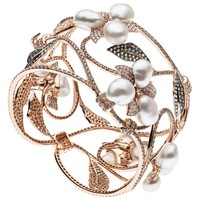 South Sea Keshi Pearl Diamond Cuff Bracelet