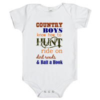 country boy baby one-piece