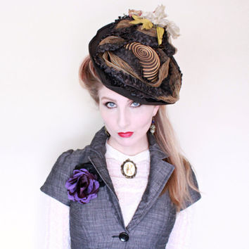 RESERVED 4 Grace / Antique Hat / 1800s / Victorian / Straw / Horsehair / 1900s