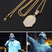 Boys & Men BAPE  Hip-Hop Rhinestone Necklace