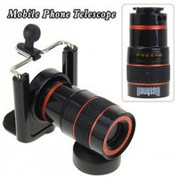 8X Optical Zoom Telescope with Adjustable Lens Universal Holder for Mobile Phone and Digital Camera