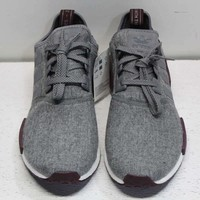 Adidas Men's Size 12 NMD_R1 Wool Running Shoes In Grey/Maroon/White CQ0761