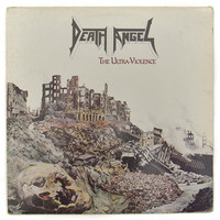 Vintage 80s Death Angel The Ultra-Violence Thrash Metal Album Record Vinyl LP