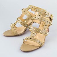 NWT CHRISTIAN LOUBOUTIN Beige Sexystrapy 70 Sandal Heels Shoes 6 US 36 EU $1195