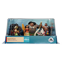 Disney Store Moana Figure Play Set Cake Topper Playlet 6 pieces New