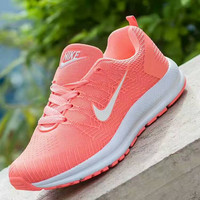 """NIKE"" Trending Fashion Casual Sports Shoes orange white hook H-A-HYSM"