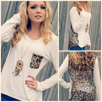 Kersey Ivory Leopard Back Top