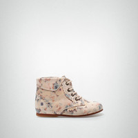 Leather boot with flowers - Shoes - Baby girl (3-36 months) - Kids - ZARA United States